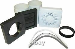 Bathroom Air Extractor Fan Ventilation Window Wall Ceiling Mount On/Off Switch