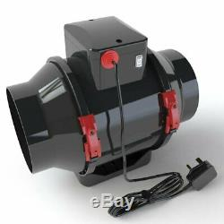 Black Orchid Hybrid Flo in Line Horticultural Ventilation Extractor Fan 4 5 6 8