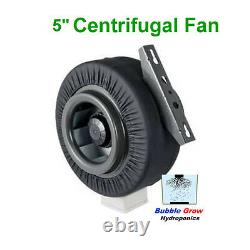Centrifugal Fan Ventilation Exhaust Fan 5/125mm Vent Duct Extractor Metal Blade
