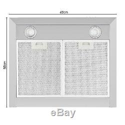Cooker Hoods Extractor Fan Kitchen Chimney 620m³/h 60cm Ventilation Touch timer