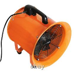 Dust Extractor Ventilation Fan 250mm 300mm Portable 6m 12m Ducting Fume Blower