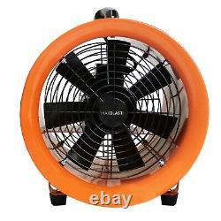 Dust Extractor Ventilation Fan 250mm Portable 12m Ducting Workshop Fume Blower