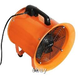 Dust Extractor Ventilation Fan 250mm Portable 6m Ducting Workshop Fume Blower