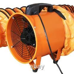Dust Extractor Ventilation Fan 300mm 110V Portable 12m Ducting Workshop Blower