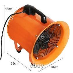 Dust Extractor Ventilation Fan 300mm Portable 12m Ducting Workshop Fume Blower