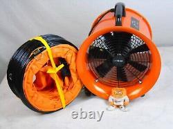 Dust Extractor Ventilation Fan 300mm Portable 6m Ducting Workshop Fume B0499