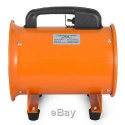 Dust Fume Extractor 8'' 200mm Ventilation Fan Industrial Blower + 5m PVC Ducting