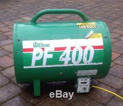 Ebac Birchwood Elite etc Power Blower Ventilator Fume Extractor Fan Spray Booth