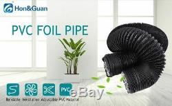 Fan Air Ducting 5m 10m Aluminum Flexible Ventilation PVC Kitchen Extractor