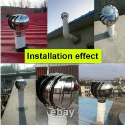 Fan Roof Ventilator Stainless Steel Wind Turbines Extractor Fans Non-powered