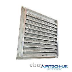 Fixed Louvre Extractor Fan Ventilation Grille Anodized Aluminium with Bird Mesh