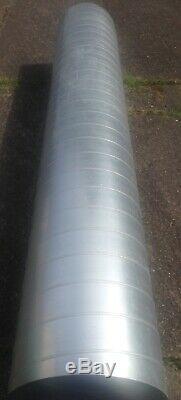 Galvanized Steel Spiral Ducting 3m 50cm Hydroponics Ventilation Extractor Fan