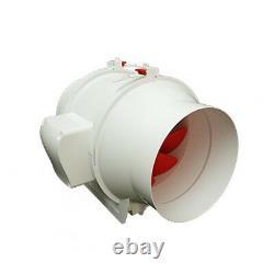 Ghost-fans 4/100mm Inline Mixed Flow Ventilation Exhaust Extractor Low Noise