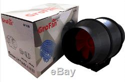Grofan Inline Ventilation Exhaust Fan 4/100mm Vent Duct Extractor Low Noise