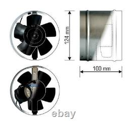 High Temperature Inline Extractor Fan 125mm Chimney Flue Liner Ventilator