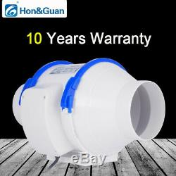 Home Silent Inline Duct Fan With Strong Ventilation System Extractor Fan New
