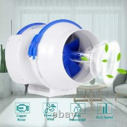 Hon&Guan 4-8 Inline Duct Fan Air Extractor Bathroom Kitchen Ventilation System