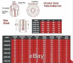 Hydroponic Inline Extractor Fan Ventilation Kitchen Industrial Steel Body UK