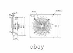 Industrial 400mm Axial Plated Extractor Fan Metal Commercial Plated Ventilator