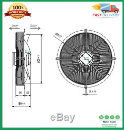 Industrial Axial Extractor Ventilation Exhaust Fan Commercial 500mm Suction IP54