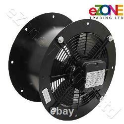 Industrial Cased Extractor Fan 18 Duct Commercial Ventilation +Speed Controller