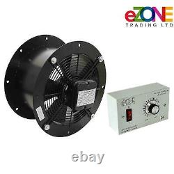 Industrial Cased Extractor Fan 22 Duct Commercial Ventilation +Speed Controller