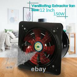 Industrial Ventilation Extractor Metal Axial Exhaust Commercial Air Blower Fans