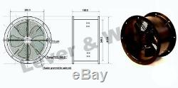 Industrial Ventilation Extractor Metal Axial Exhaust Commercial Blower Cased Fan