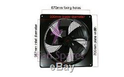 Industrial Ventilation Extractor Metal Axial Exhaust Fan And Speed Controller