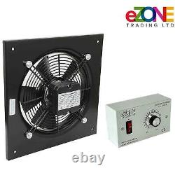 Industrial Wall Mounted Extractor Fan 10 Commercial Ventilation +Speed Control