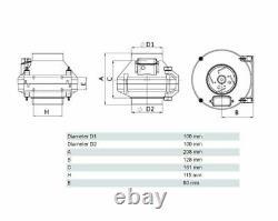 Inline Centrifugal Fan 100mm Duct Hose Inline Extractor Fan Tube Ventilator