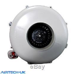Inline Duct Extractor Fan Hydroponic Ventilation Kitchen Bathroom Fan 1100 m3/hr