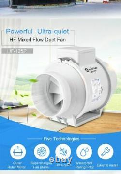 Lightweight Air Extractor Fan Ultra-Quiet Operations Exhaust Ventilation Outlets