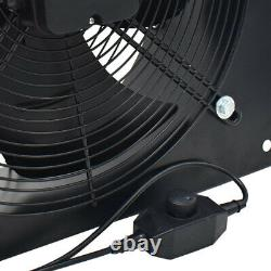 LowNoise Wall Extractor Air Ventilation Axial Fan Bathroom Kitchen Speed Control
