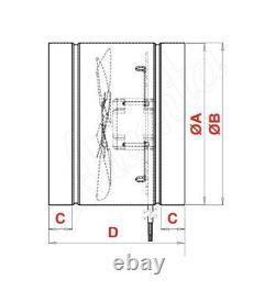 Metal Inline Extractor Fan 325mm 12.8 Commercial Industrial Duct Ventilator WK