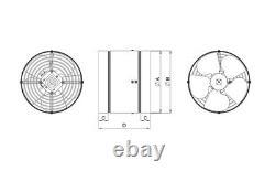 Metal Inline Extractor Fan 325mm / 12.8 Industrial Ducting Tube Ventilator