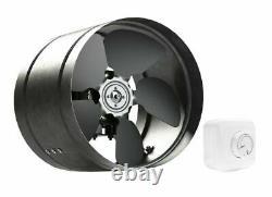 Metal Inline Extractor Fan 325mm with Speed Controller / Industrial Ventilator