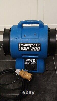 Miniveyor Air VAF 200 Portable Ventilation / Extractor Dust & Fume Fan 110V