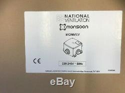 Monsoon MEV Centralised Energysaver Ventilation Multi-Room Extractor Fan Unit