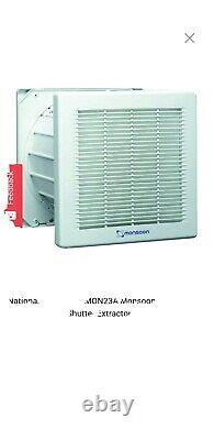National Ventilation MON23A Monsoon 225mm Auto Shutter Extractor Fan