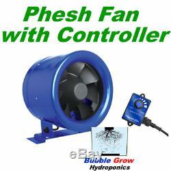 Phresh Hyperfan Fan 6 150mm Inline Ventilation Exhaust Vent Duct Inch Extractor