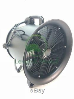Portable Extractor Fan Blower Garage MOT Workshop Exhaust Ventilation 250mm