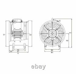 Portable Industrial Ventilator Axial Blower Extractor Fan 10 with 10M Duct