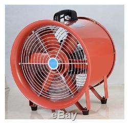 Portable Industrial Ventilator Axial Blower Workshop Extractor Fan 10 250mm