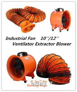 Portable Industrial Ventilator Axial Blower Workshop Extractor Fan 12 300mm