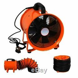 Portable Industrial Ventilator Blower Workshop Extractor Fan 10 with 10M Duct