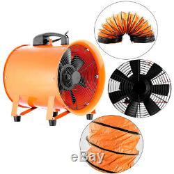 Portable Ventilator Air Axial Blower Ventilator Blower Workshop Extractor Fan UK