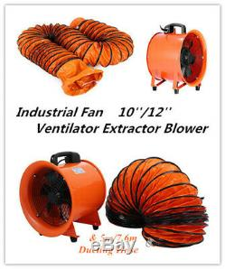 Portable Ventilator Axial Blower 10/12 inch With Handle Extractor Fan Utility