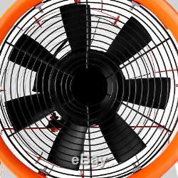 Portable Ventilator Axial Blower Workshop Ducting Extractor Industrial Fan 12