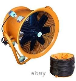 Portable Ventilator Axial Blower Workshop Ducting Extractor Industrial Fan 14